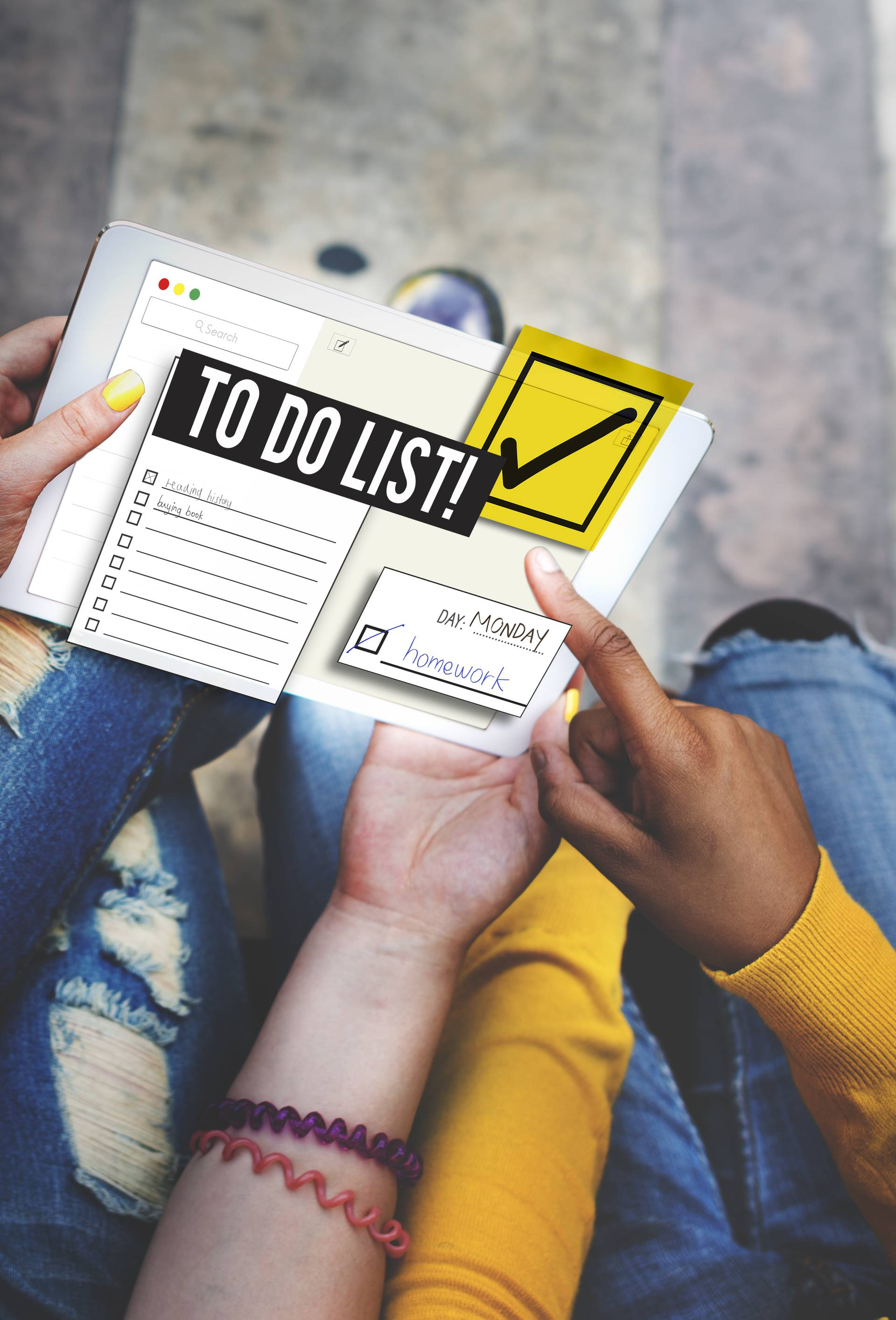To Do List Time Management Reminder Prioritize Concept