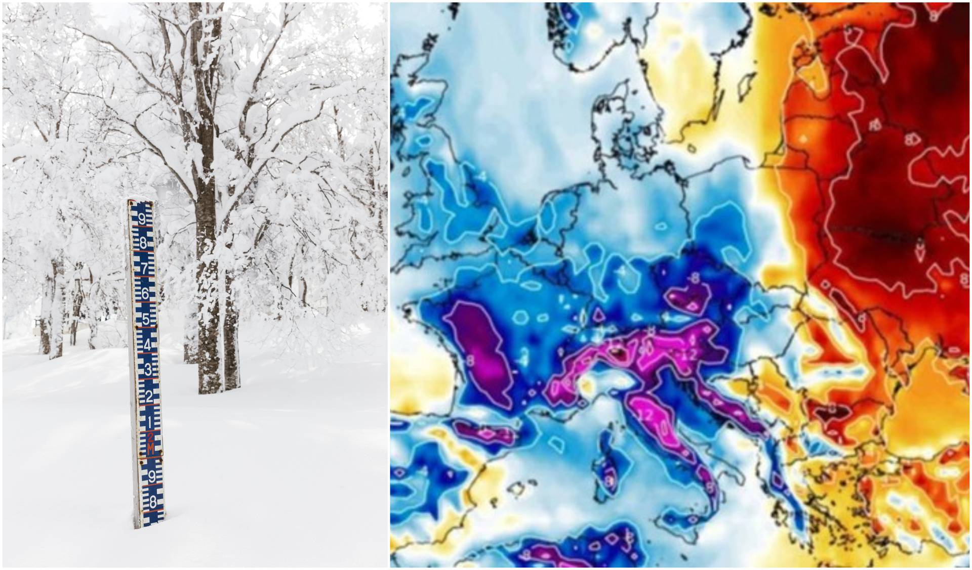Za vikend stiže hladna fronta, u Alpama očekuju metar snijega!