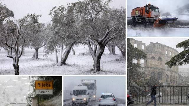 I dalje kaos na cestama: Istru i Kvarner zabijelio je snijeg