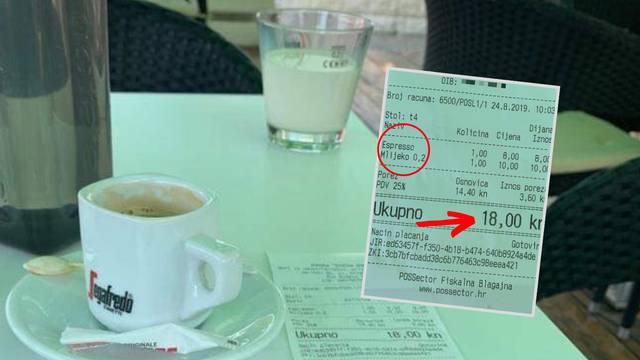 'Kavu i malo mlijeka na Čiovu su mi naplatili čak 18 kuna!'