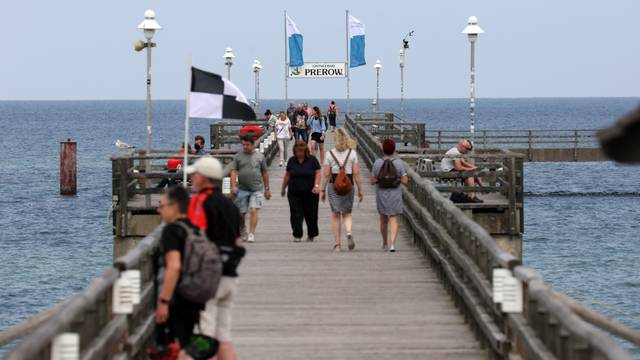 Pier of the Baltic seaside resort Prerow
