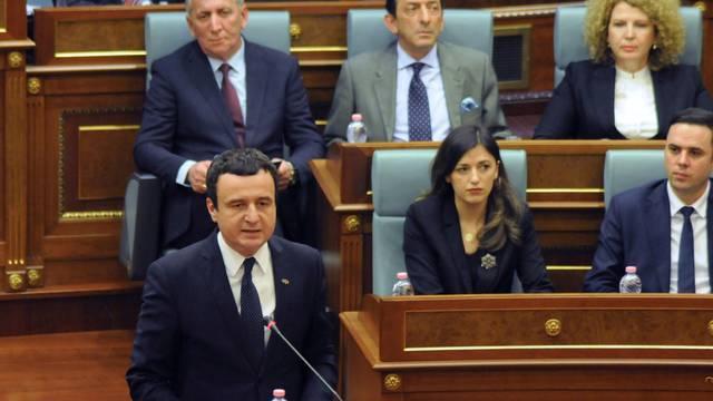 FILE PHOTO: Newly elected PM of Kosovo Kurti attends parliament session in Pristina
