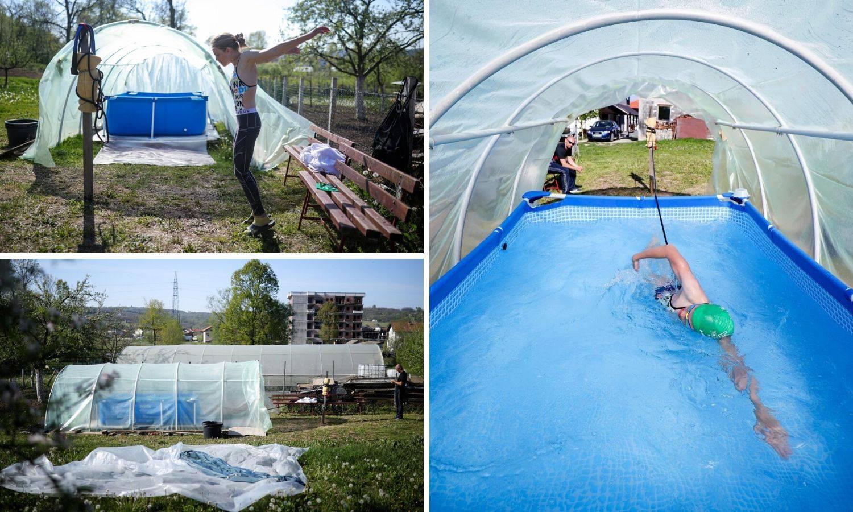 Državna prvakinja našla način: Trenira plivanje u - plasteniku!