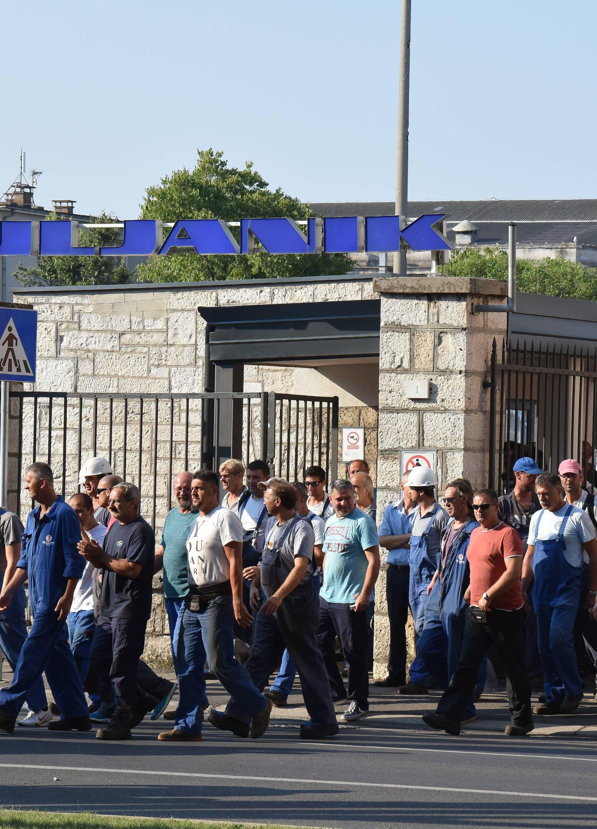 Pula: Radnici Uljanika nastavili Å¡trajk i zahtjevaju ostavku Uprave