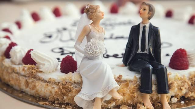 Ilustracija svadbene torte