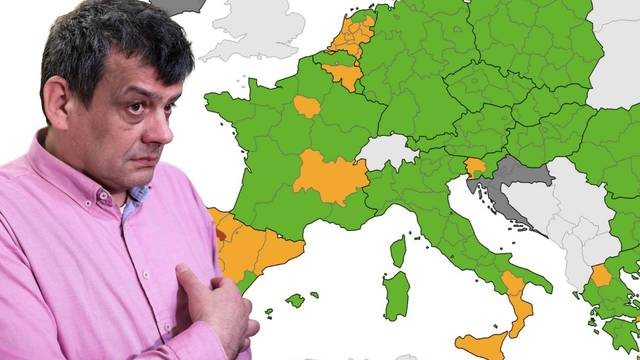 Umjesto u zelenom, Hrvatska na novoj karti  u 'sivoj zoni'