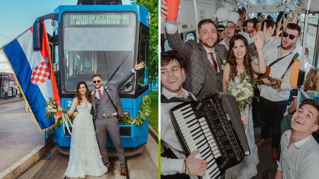 Nikolina i Marko su za svadbu unajmili tramvaj: Napravili smo show u Zagrebu, ljudi su trubili