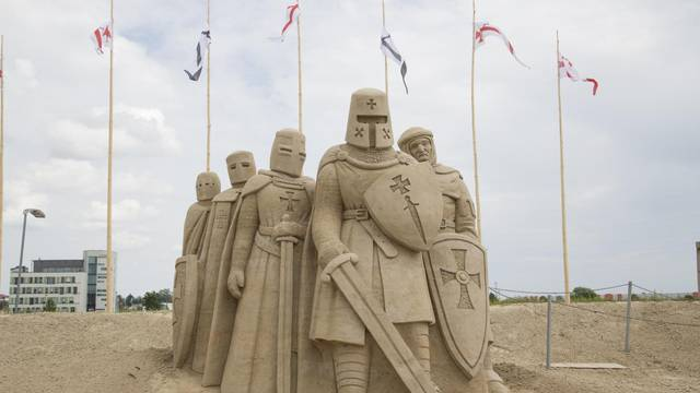 Sand Sculpture Exhibition in Latvia