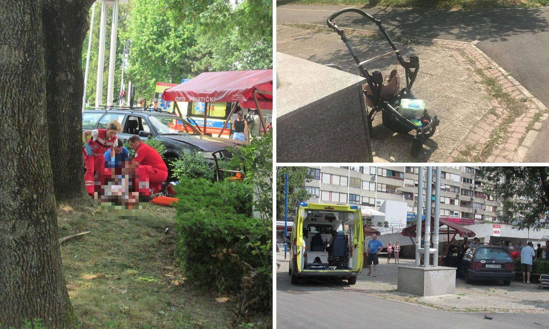 Kombi udario u auto: Naletjeli na majku i tromjesečnu bebu