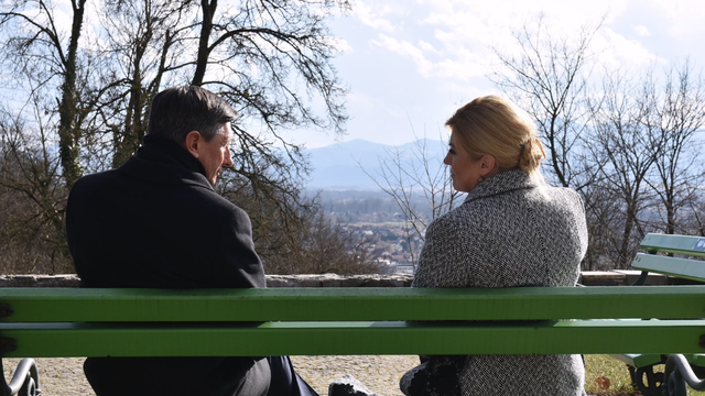 Predsjedničin posljednji posjet: Ručala i prošetala  s Pahorom