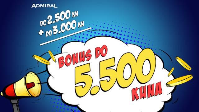 Admiral u rođendanskom mjesecu daje do 5.500 kuna bonusa!