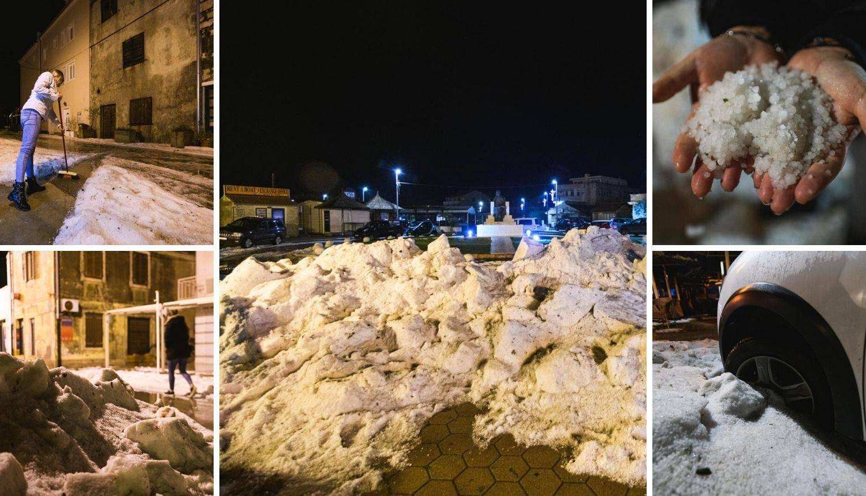 Tuča je pogodila Jadran: 'Aute smo morali izvlačiti bagerima'