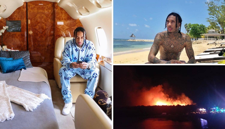 Tyga nije imao koncert, a sad se fotka u avionu: 'Dobro sam'