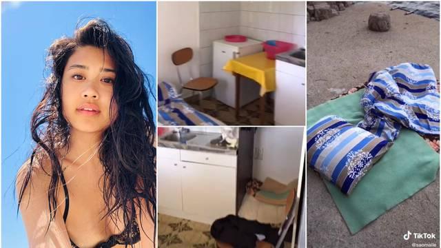 Šokirao ju apartman u Brseču, fotkala ga pa spavala na plaži: Ovu sam rupu platila 83 eura!?