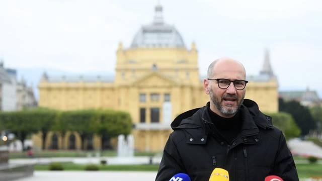 Kandidat SDP-a za zagrebačkog gradonačelnika Joško Klisović dao izjavu za medije