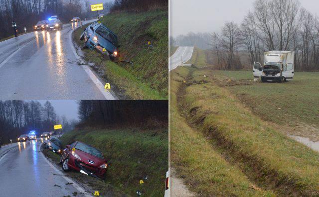 Slijetali sa skliske ceste: Tri sudara na skoro istom mjestu