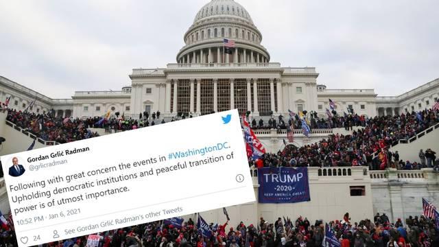 Hrvatska je osudila nemire u Washingtonu: 'Mirni prijenos vlasti je od najveće važnosti'