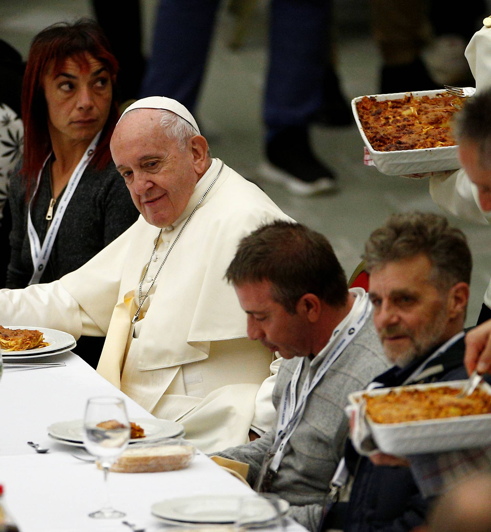 Pope Francis celebrates a Mass marking the Roman Catholic Church's World Day of the Poor