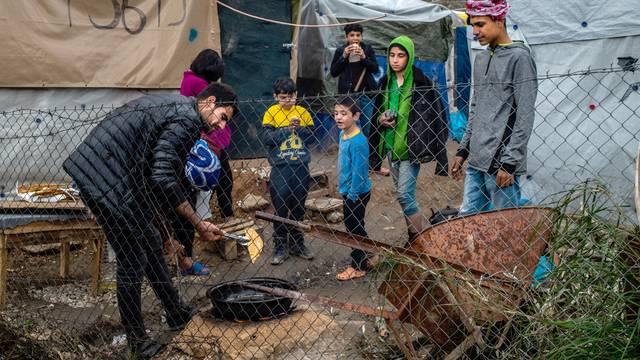 Refugee camp on Lesbos after riots