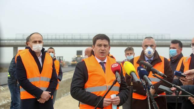 Ministar Butković obišao radove na 5C koridoru i obilaznici Belog Manastira