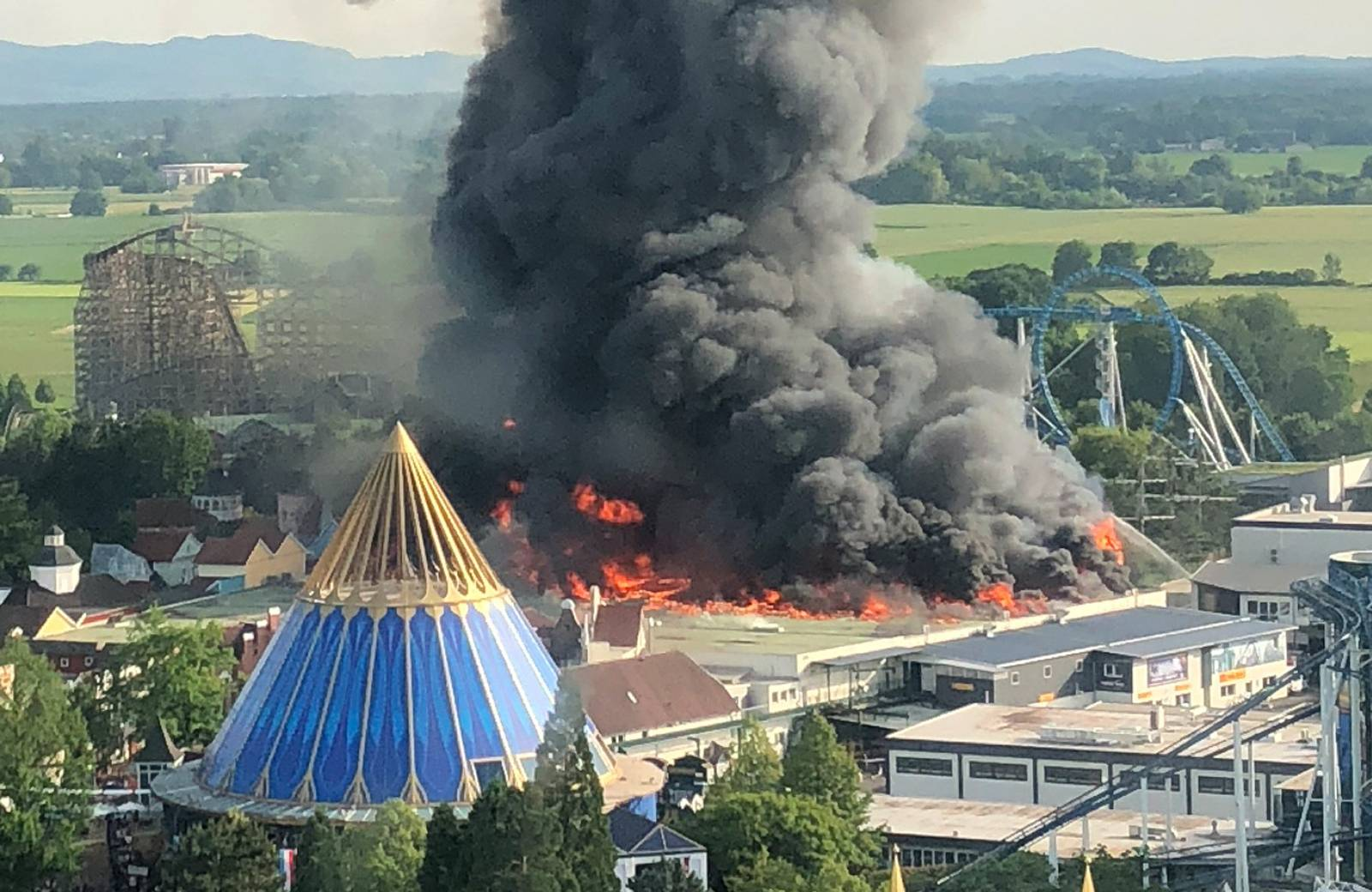 Major fire at Europa-Park Rust