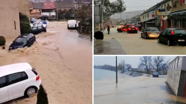 Kiša je padala cijeli dan, a onda je centar odjednom poplavio. 'Trgovine su sve pod vodom'