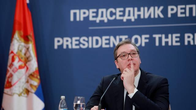 Beograd: Vučić  na konferenciji nakon sjednice državnog vrha i Operativnog tima za cijepljenje