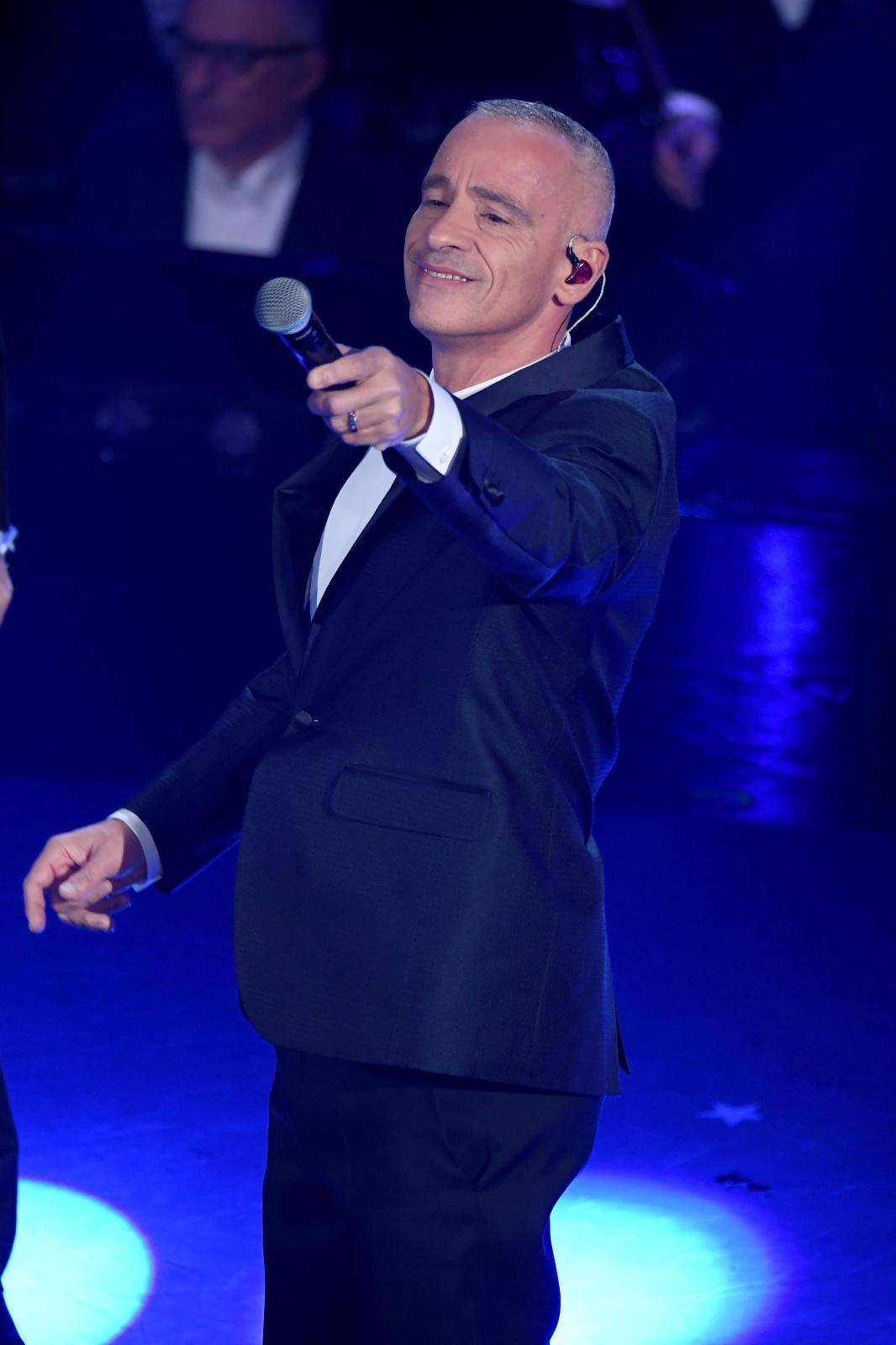 Sanremo, 69th Festival of Italian song 2019. Final evening. Eros Ramazzotti