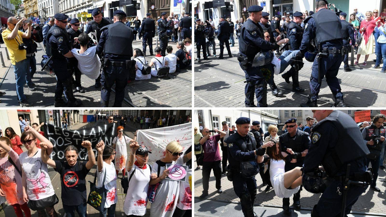 Prosvjednici su htjeli blokirati povorku, sve ih privela policija
