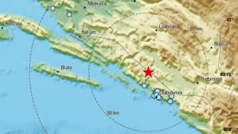 Potres jačine 4,1 po Richteru zatresao Dubrovnik: 'Dosta se osjetio, treslo se par sekundi'