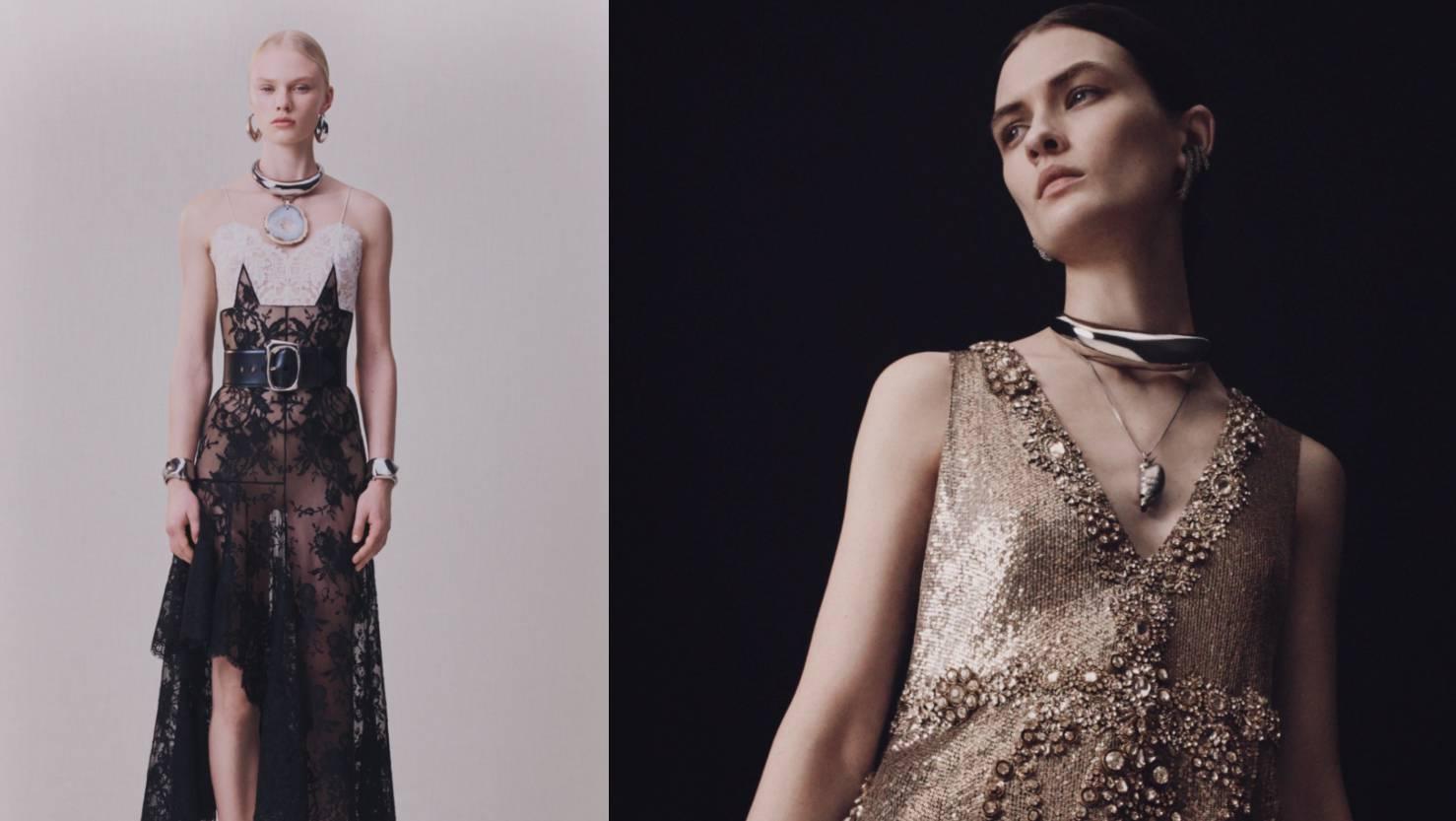 Alexander McQueen pre-fall 2020.: 10 večernjih haljina čarobnog dizajna u čast zlatu