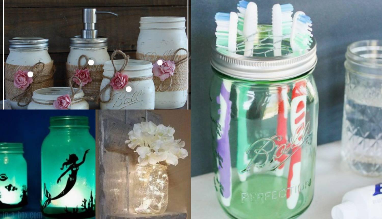 Od teglica napravite držač za četkice, svijećnjak ili soljenku