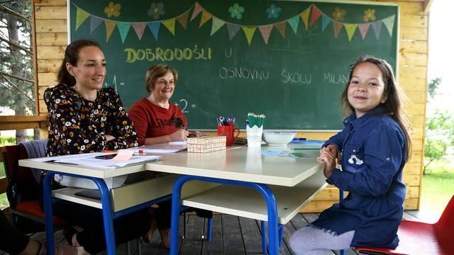 Bregana: Prvašiće testiramo u zelenoj učionici pod drvetom...