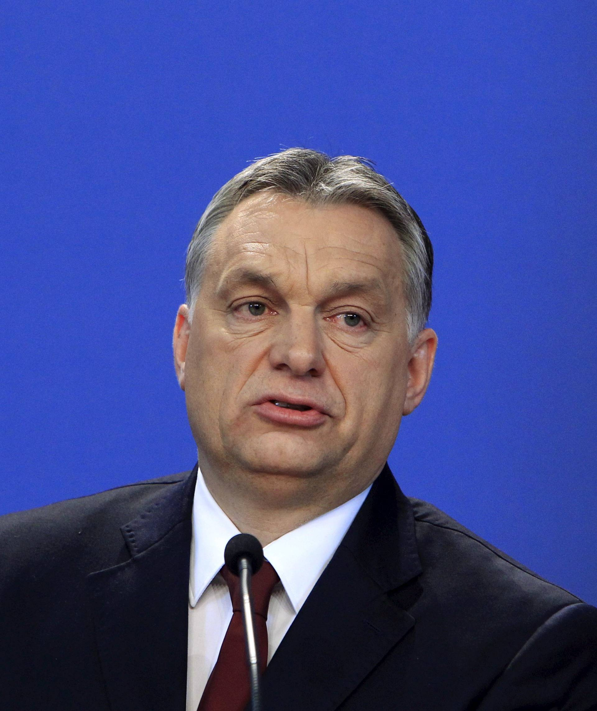 Hungarian Prime Minister Orban attends a news conference with Bavarian State Premier Horst Seehofer in Budapest