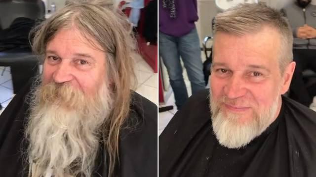 Slavni frizer uredio beskućnika: 'Potpuno je neprepoznatljiv'