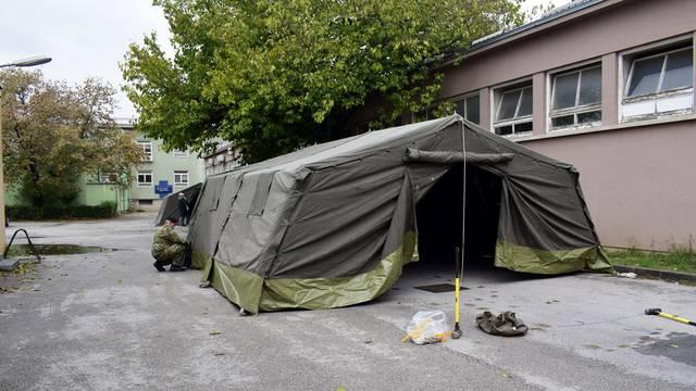 Dodatni šatori kod Vinogradske i Veterinarskog fakulteta zbog korone: 'Za potrebe trijaže su'