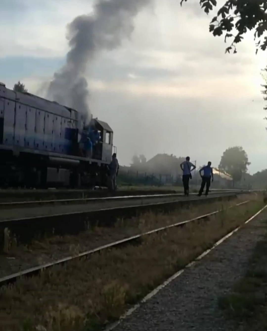 Zapalio se putnički vlak  u Pitomači: Nitko nije ozlijeđen