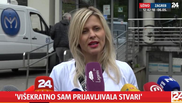 Prosvjed liječnika ispred Klinike za tumore: 'Zadravec me jutros napala. Bolnica nije ničiji talac'