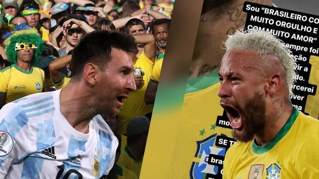 Brazilci će navijati za Argentinu zbog Messija?! Neymar poludio