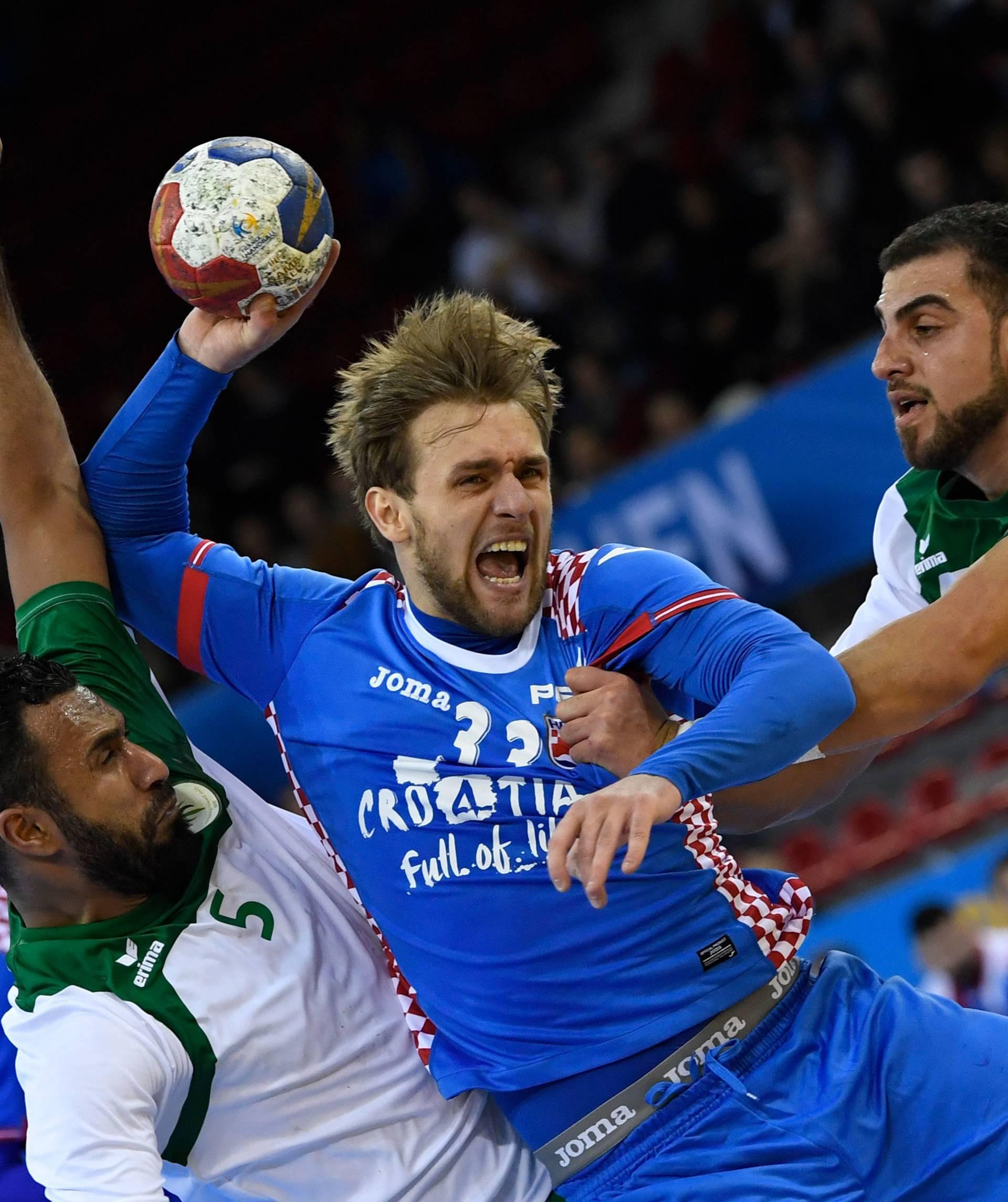 Handball WM _ Kroatien - Saudi Arabien