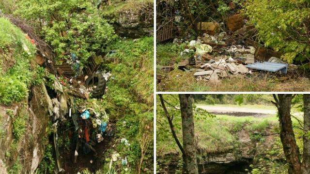U horor jamu na Velebitu bacaju strvine, cijela stabla, kemikalije pa čak i metalne kontejnere...