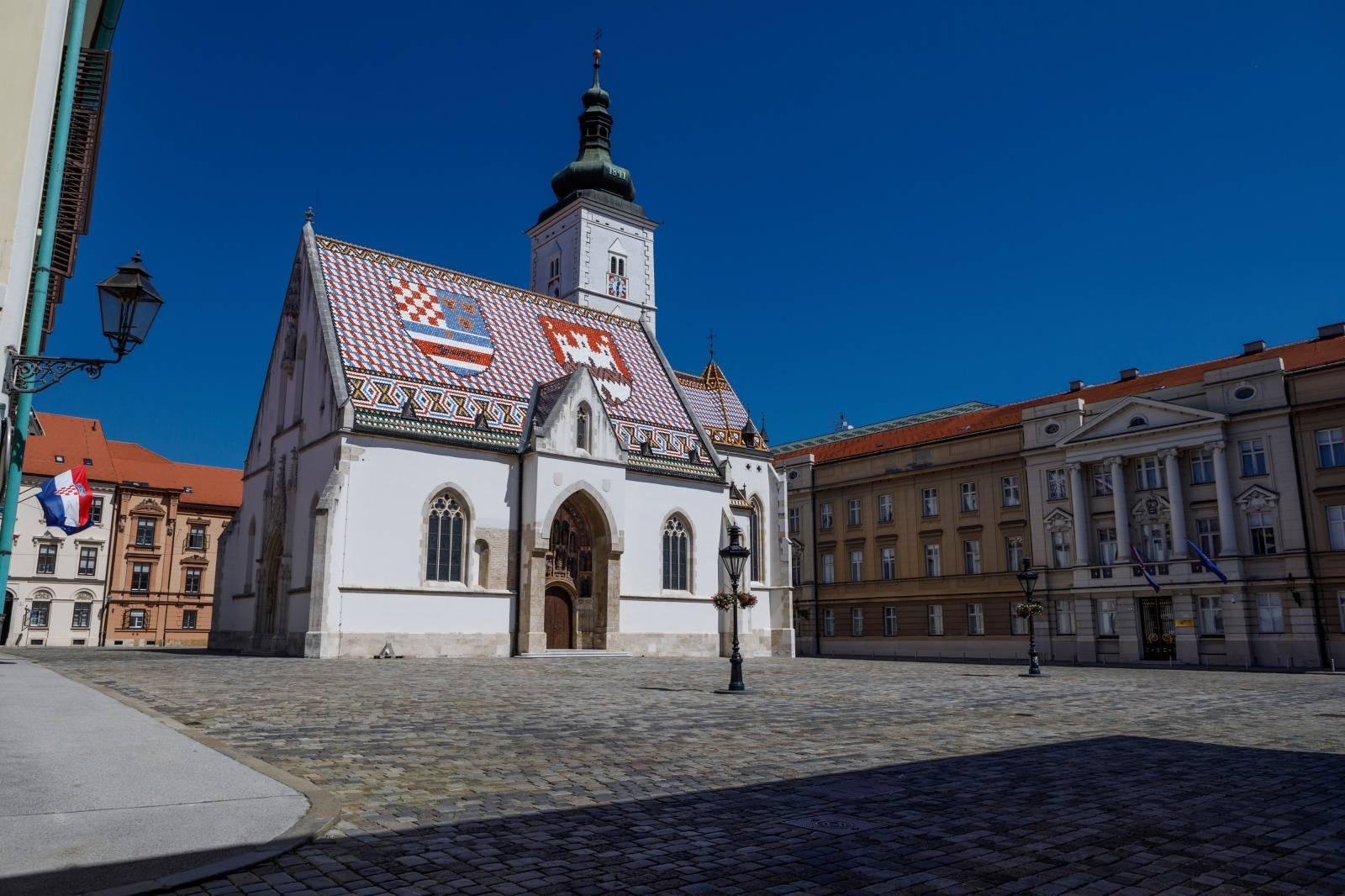 Zagreb: Prazne ulice Gornjeg Grada