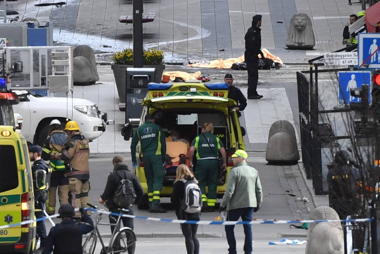 People were killed when a truck crashed into department store Ahlens on Drottninggatan, in central Stockholm