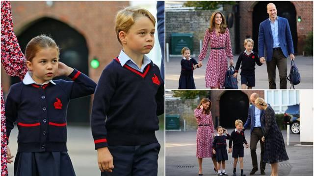 Princ se ne boji korone: George i Charlotte redovito idu u školu