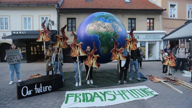 Zagreb: Na Europskom trgu održan globalni prosvjed za klimu