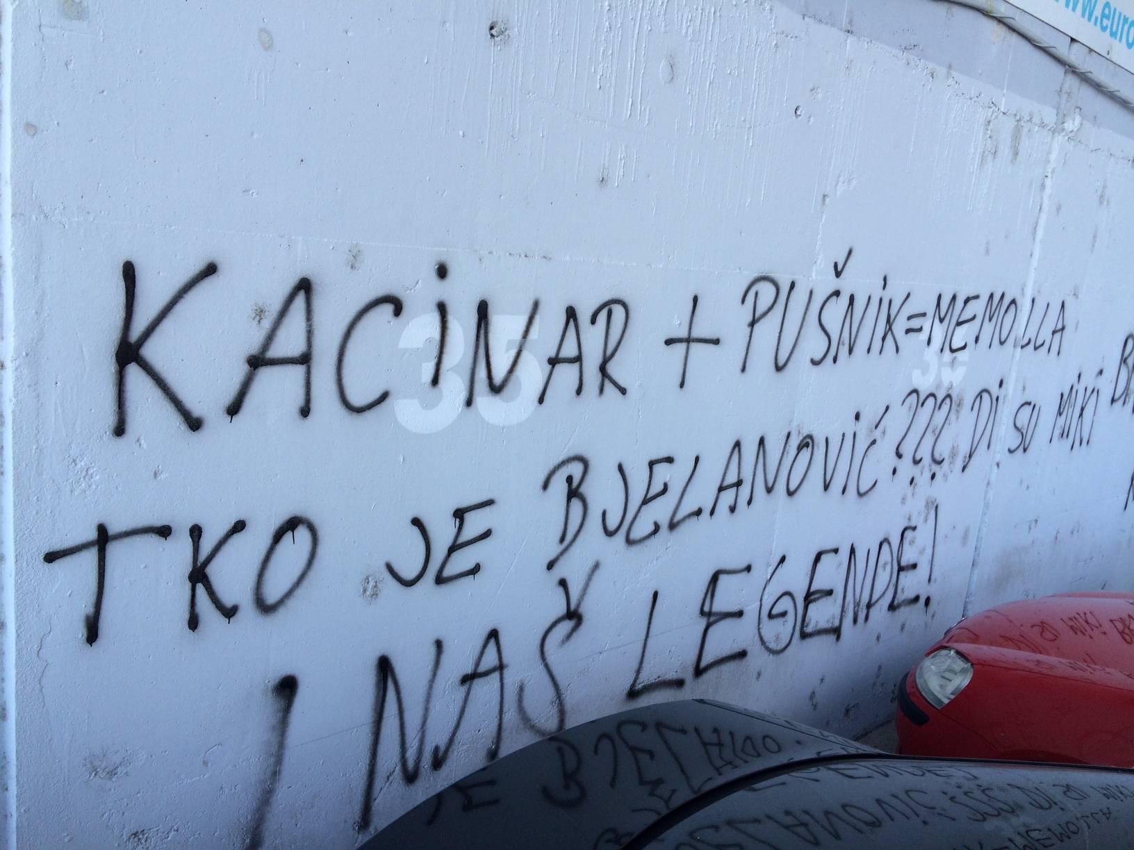 Uvredljivi grafiti na Poljudu: Tko je Bjelanović, di su legende