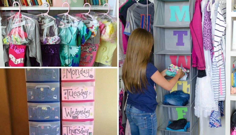 10 ideja kako organizirati djeci odjeću za školu - za cijeli tjedan