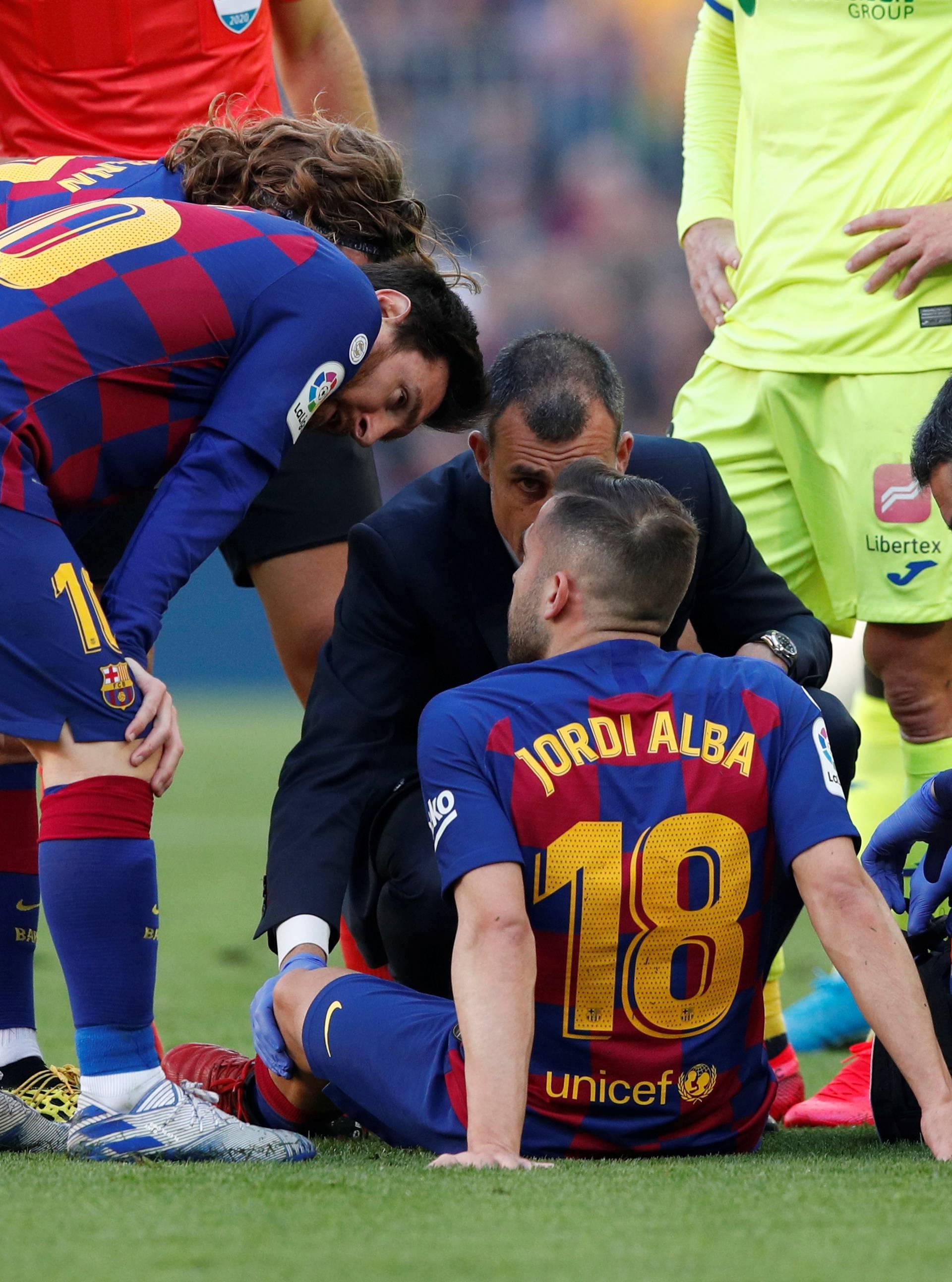 Barça jedva preskočila Getafe: Jordi Alba duže izvan terena?