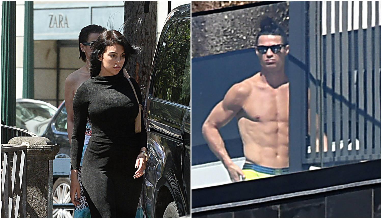 Ronaldo u karanteni 'pločice' sunča, a Georgina u shoppingu