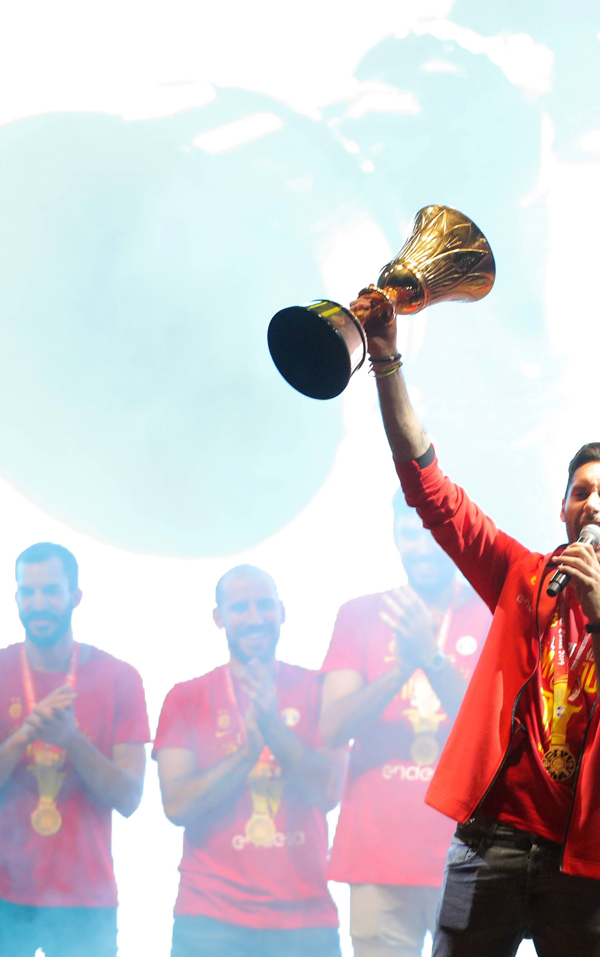 Spain celebrate their Basketball World Cup Win in Madrid
